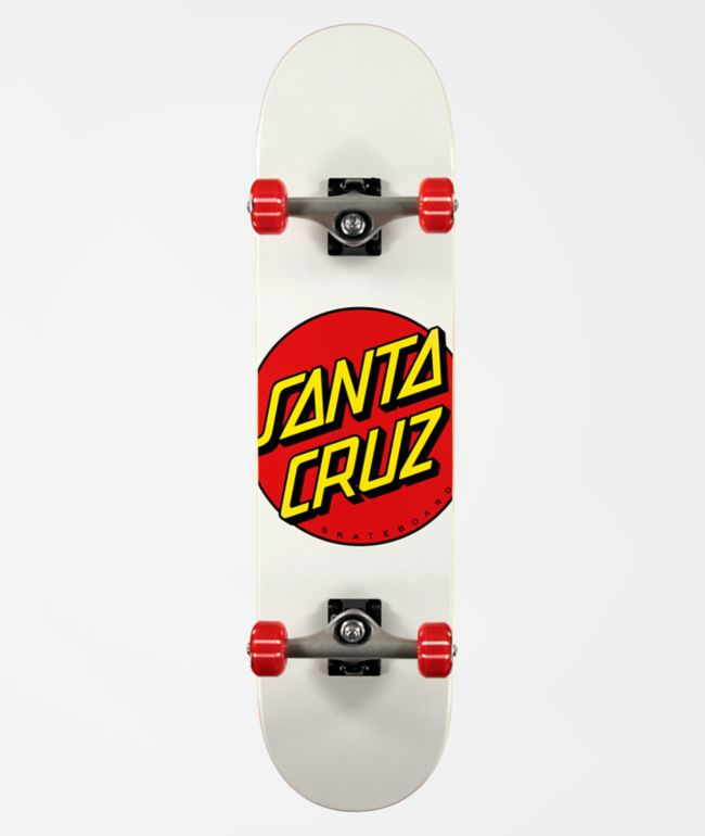 "Santa Cruz White Dot 7.75"" Skateboard Complete"