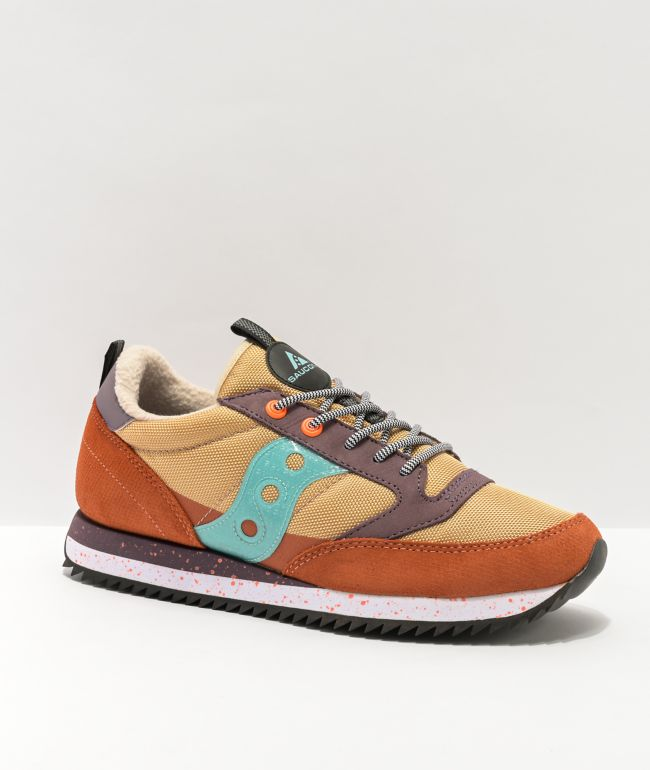 Saucony Jazz Original Peak Curry, Ginger, & Blue Shoes