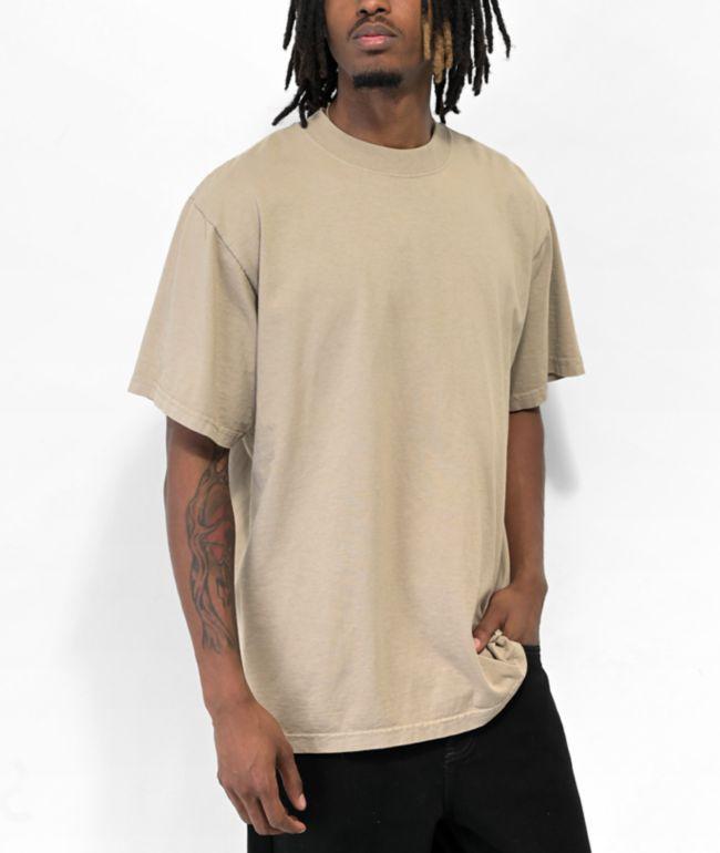 Shaka Wear Max Heavy Weight Garment Dye Oat T-Shirt