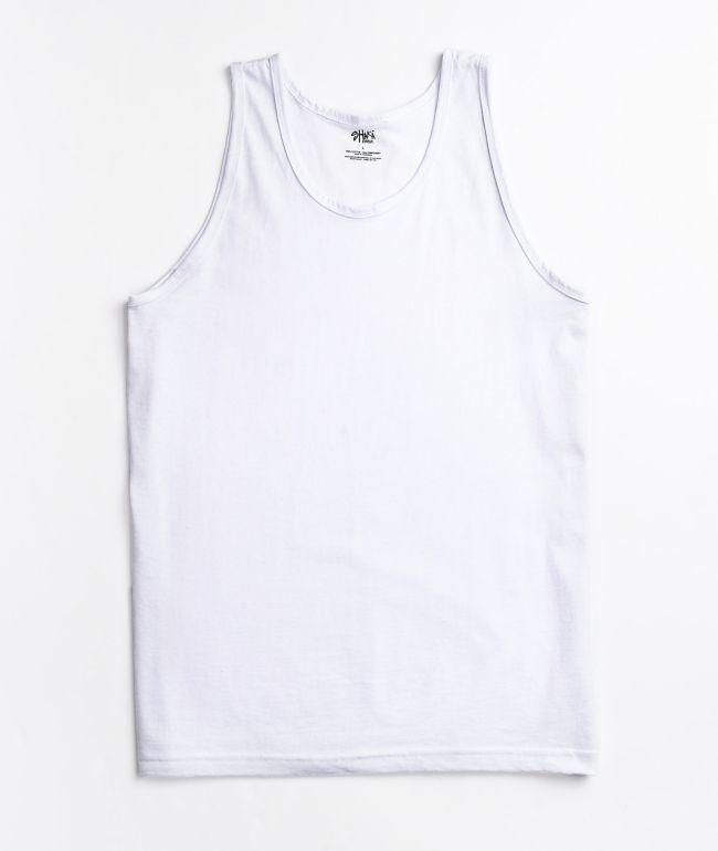 Shaka Wear White Tank Top