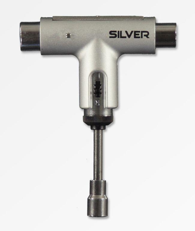 Silver Metallic Silver Skate Tool
