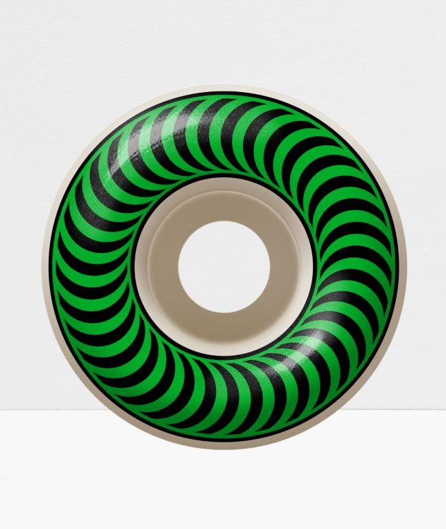 Spitfire Classic 52mm 99a Green & Black Skateboard Wheels