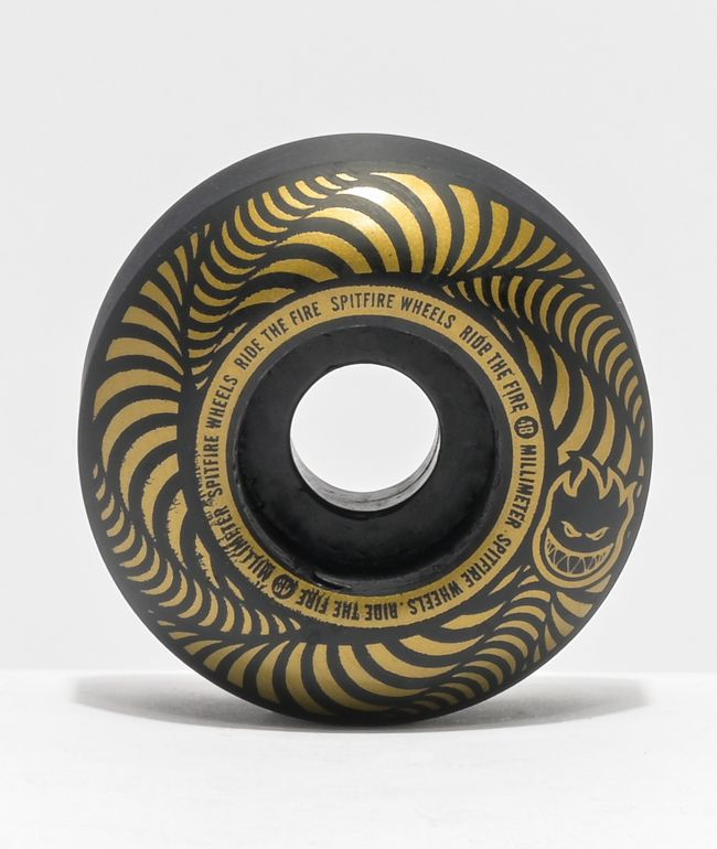 Spitfire Flashpoint 48mm 99a Black Skateboard Wheels