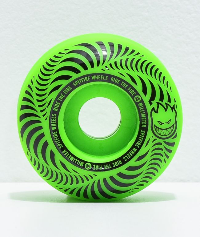 Spitfire Flashpoint 48mm 99a Green Skateboard Wheels