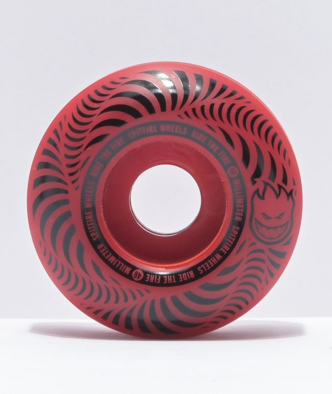 Spitfire Flashpoint 48mm 99a Red Skateboard Wheels