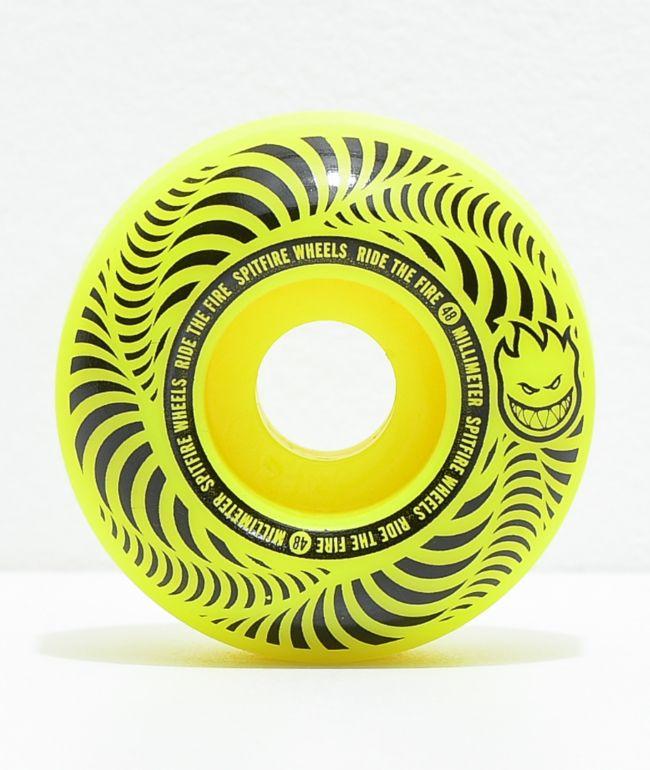 Spitfire Flashpoint 48mm 99a Yellow Skateboard Wheels