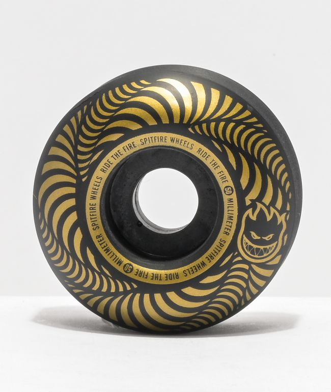 Spitfire Flashpoint 50mm 99a Black Skateboard Wheels