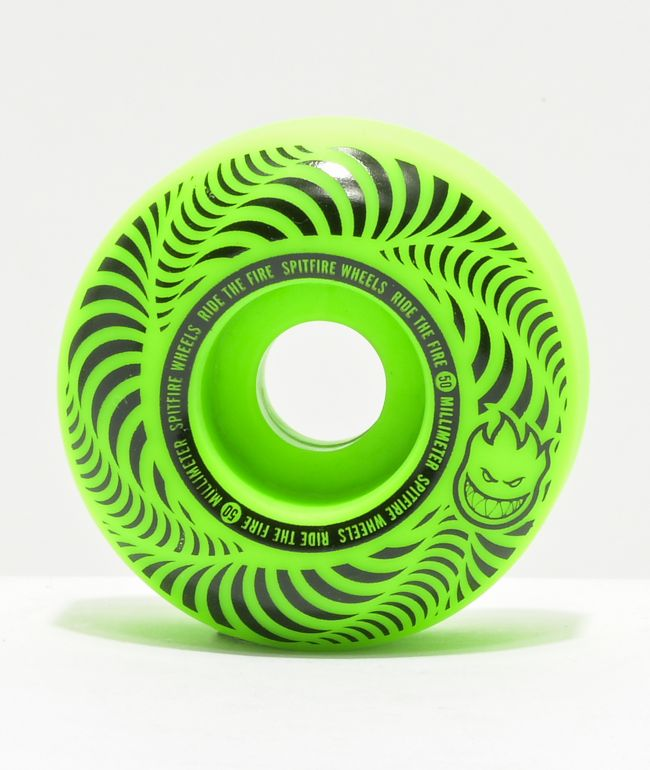 Spitfire Flashpoint 50mm 99a Green Skateboard Wheels