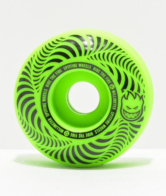 Spitfire Flashpoint 51mm 99a Green Skateboard Wheels