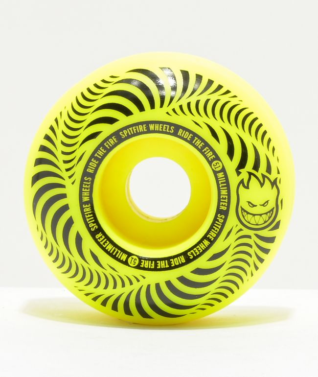 Spitfire Flashpoint 51mm 99a Yellow Skateboard Wheels