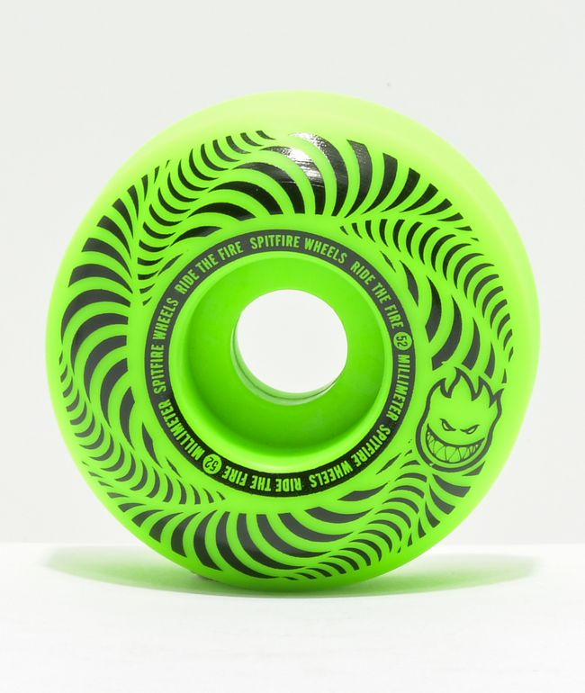 Spitfire Flashpoint 52mm 99a Green Skateboard Wheels