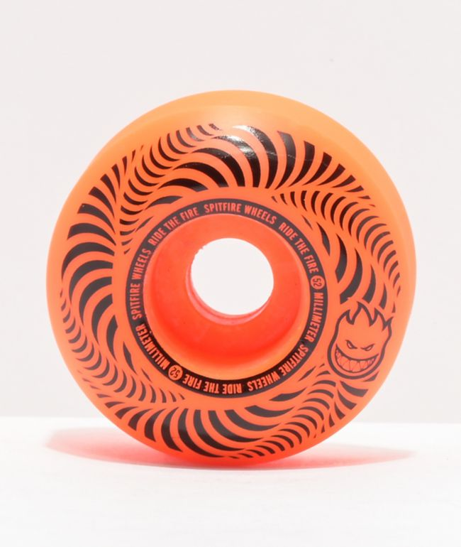 Spitfire Flashpoint 52mm 99a Orange Skateboard Wheels