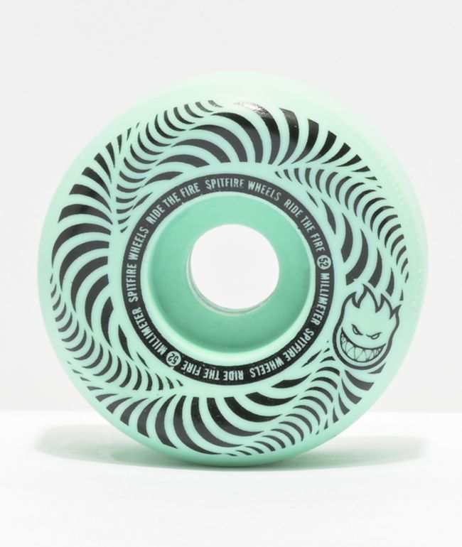 Spitfire Flashpoint 52mm 99a Turquoise Skateboard Wheels