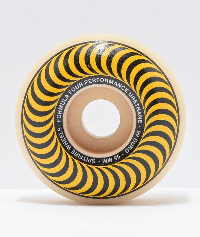Spitfire Formula Four Classic 55mm 99a Yellow Skateboard Wheels