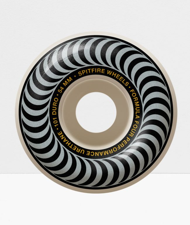 Spitfire Formula Four Classic Silver & Black 54mm 101a Skateboard Wheels