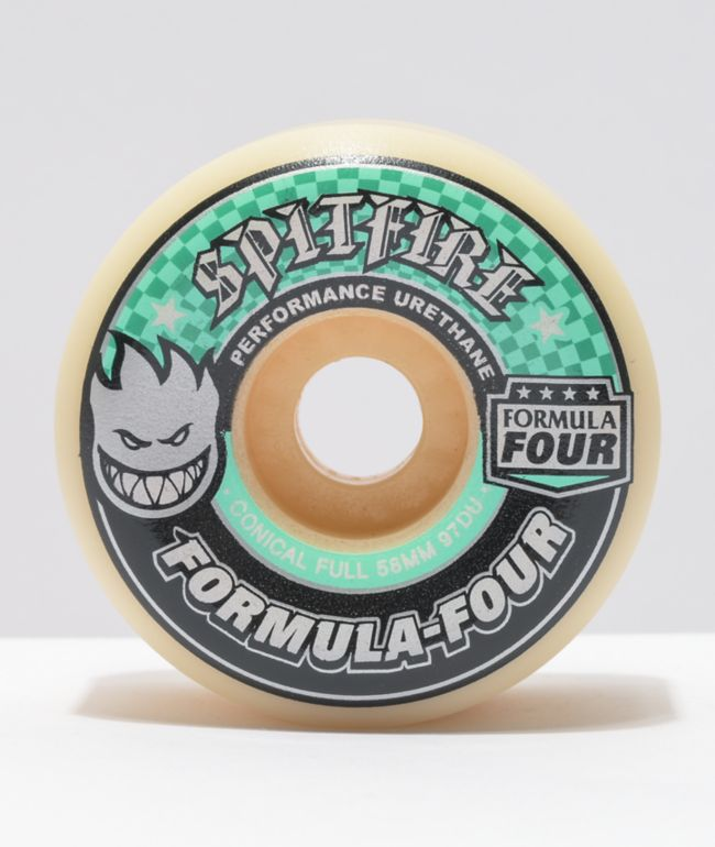 Spitfire Formula Four Full Conical 58mm 97A Natural & Turquoise Skateboard Wheels