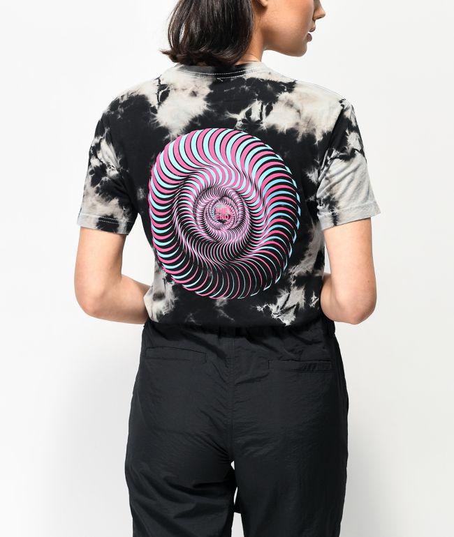 Spitfire Overlay Swirl Black Tie Dye T-Shirt