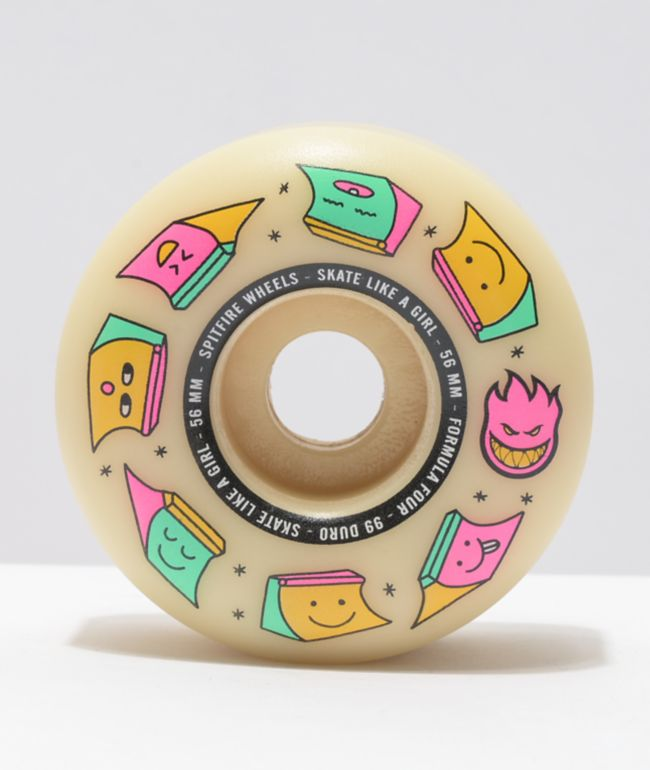 Spitfire x Skate Like A Girl Formula Four Radial 56mm 99a Natural Skateboard Wheels