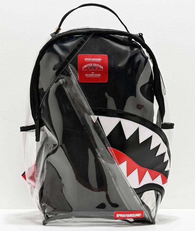 Sprayground Shark Angle 20-20 Vision Clear Backpack