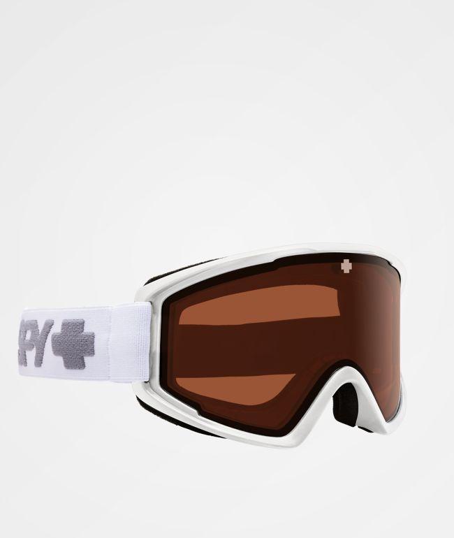 Spy Crusher Elite Matte White HD Persimmon gafas de snowboard
