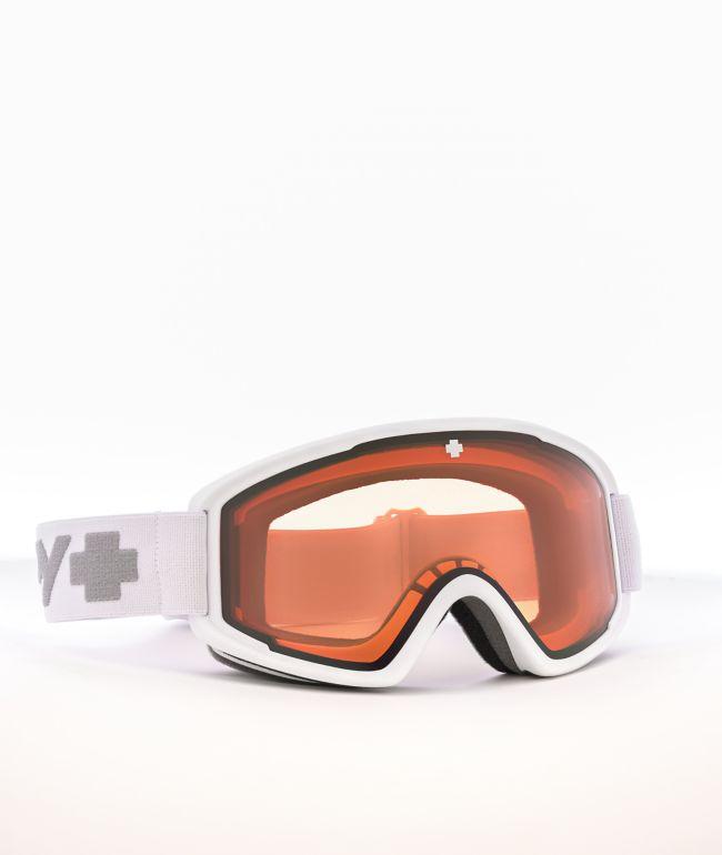 Spy Crusher Elite White Persimmon HD Snowboard Goggles