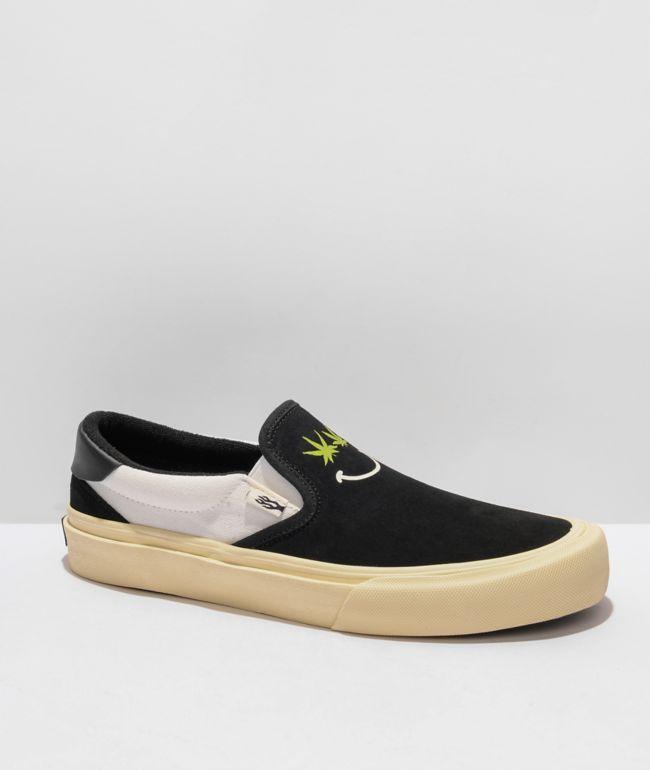 Straye Ventura Weed Belong Black Slip-On Skate Shoes