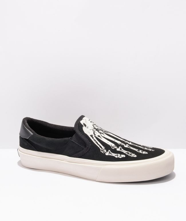 Straye Ventura X-Ray Black & White Slip-On Skate Shoes