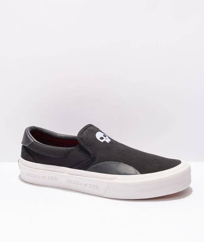 Straye x Zero Ventura X-Ray Black, White, & Red Slip-On Skate Shoes