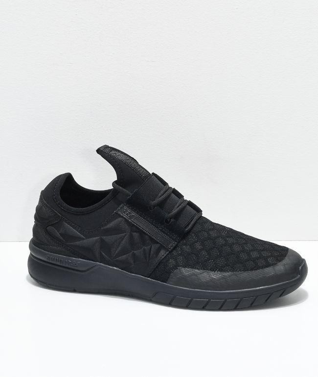 Supra Flow Run EVO All Black Shoes | Zumiez