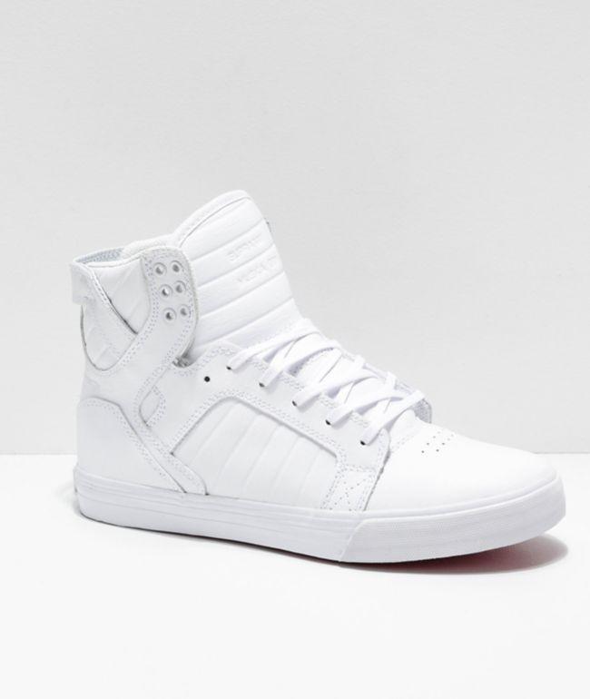 Supra Skytop White \u0026 Red Skate Shoes