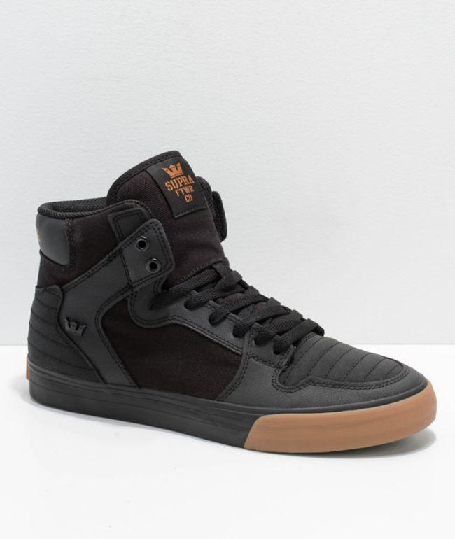 Supra Vaider Black \u0026 Gum Nubuck Skate