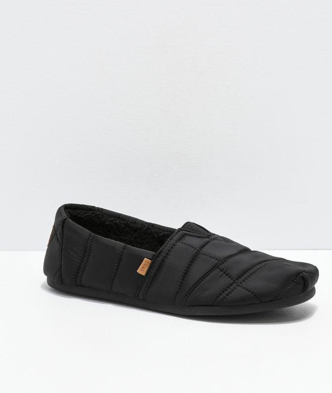TOMS Alpargata Black Slip On Mens Shoes