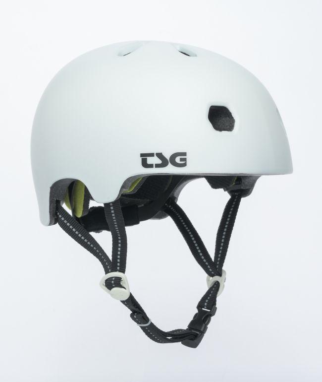 TSG Certified Meta Matte White Multi-Sport Helmet
