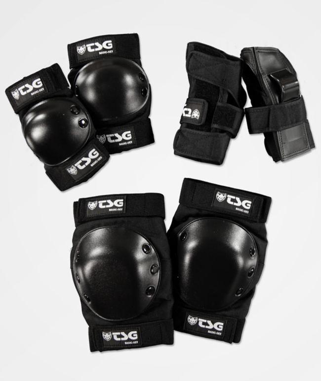 TSG paquete básico de almohadillas protectoras negras