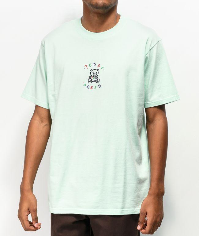 Teddy Fresh Embroidery Aqua Green T-Shirt