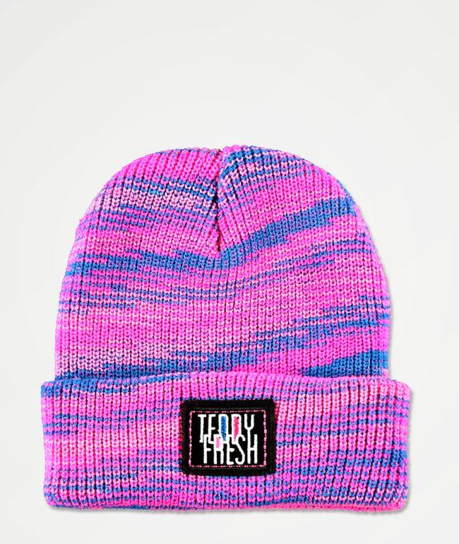 Teddy Fresh Spacedye gorro rosa y azul