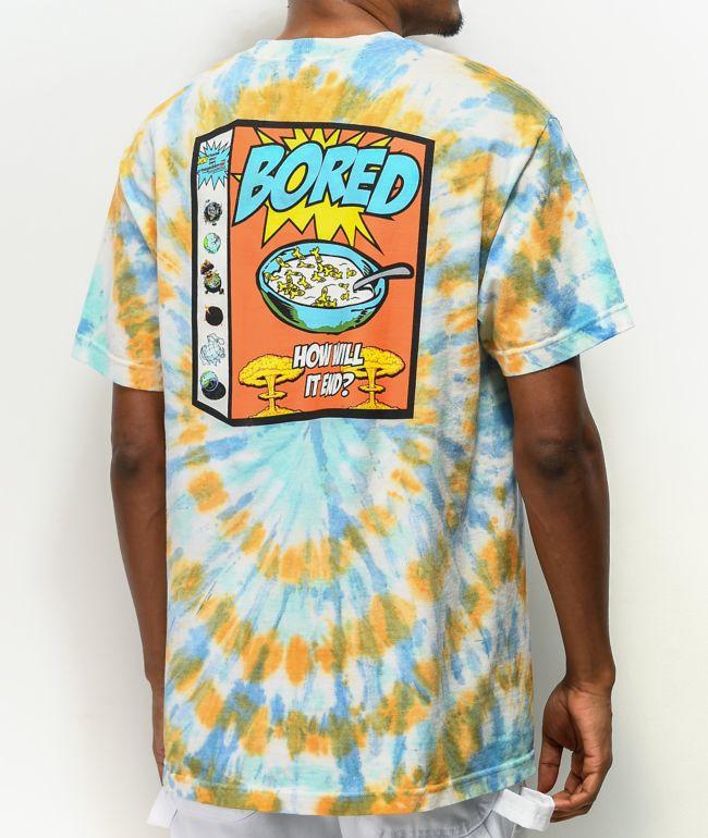 Teenage Breakfast Of Champions Blue & Orange Tie Dye T-Shirt