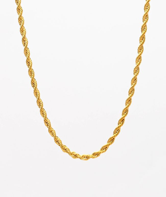 "The Gold Gods 22"" Yellow Gold Rope Chain Necklace"