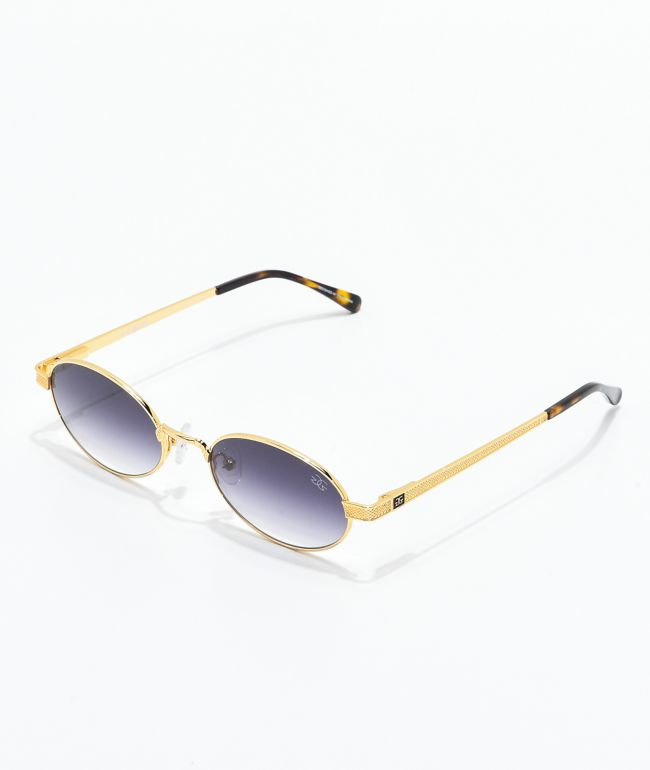 The Gold Gods The Ares gafas de sol negras con gradiente