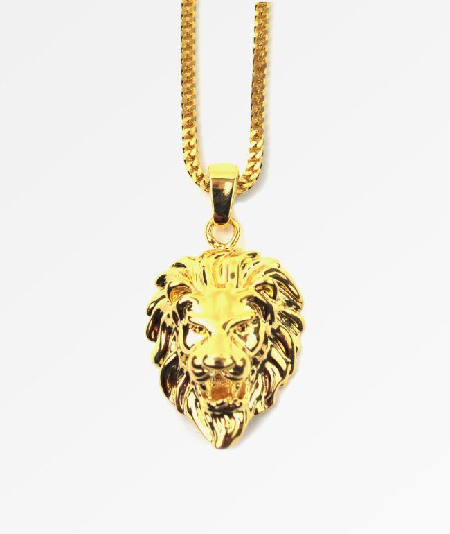 The Gold Gods collar cara de león