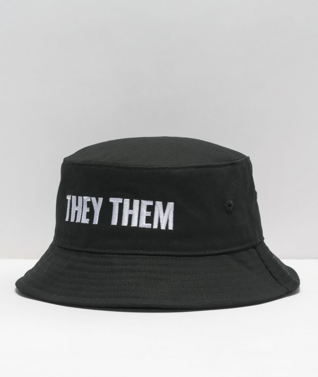 The Phluid Project They Them Black Bucket Hat