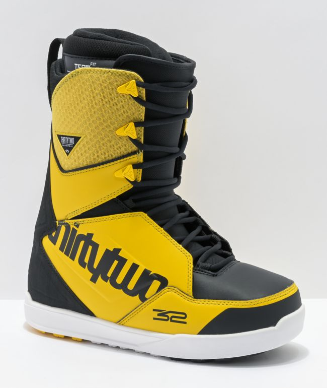 ThirtyTwo Lashed Black & Yellow Snowboard Boots 2021