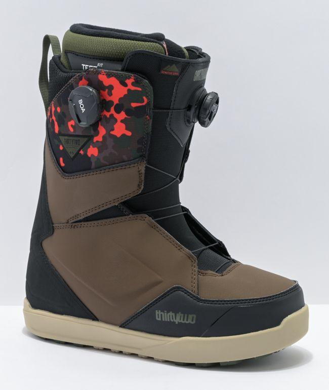 ThirtyTwo Lashed Double Boa Bradshaw Camo Snowboard Boots 2021