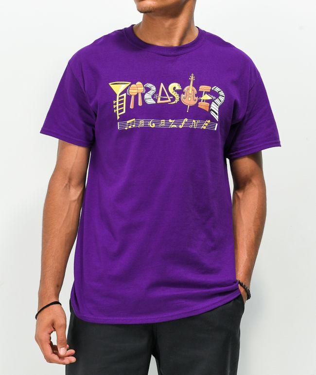 Thrasher Filmore Logo Purple T-Shirt