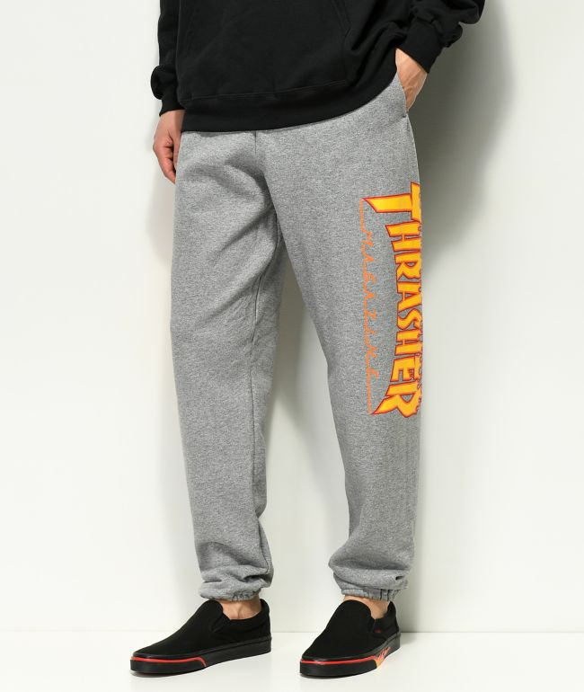 Thrasher Flame Grey Sweatpants