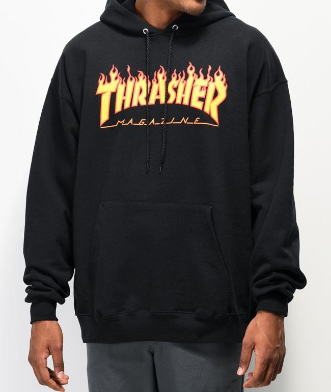 Thrasher Flame Logo sudadera con capucha