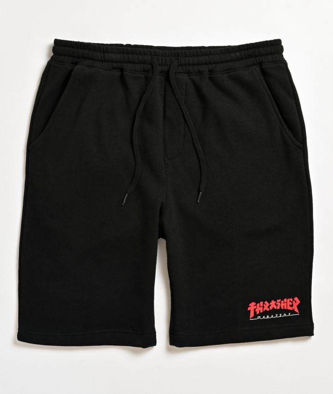 Thrasher Godzilla Black Sweat Shorts