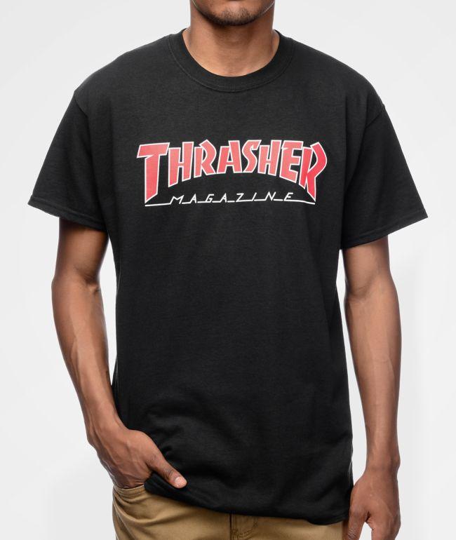 Thrasher Magazine Outlined Black T-Shirt