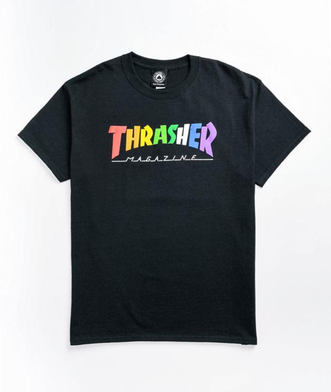 Thrasher Rainbow Black T-Shirt