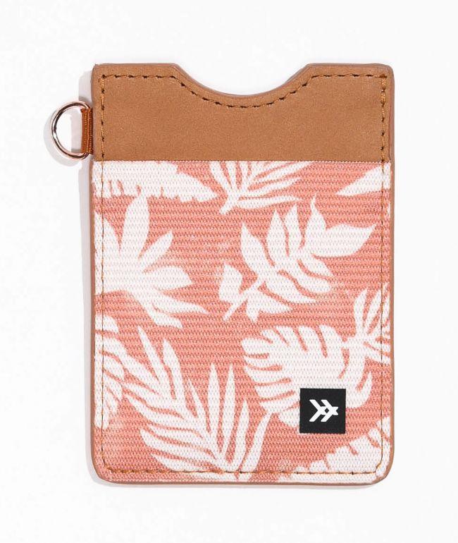 Thread Cabana Vertical Brown Key Ring Wallet